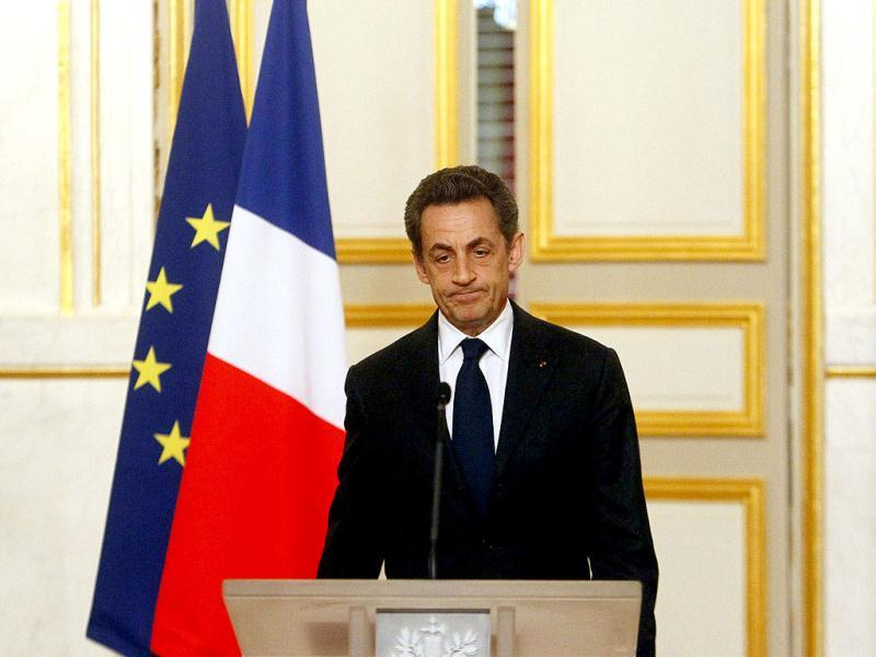 France's President Nicolas Sarkozy pauses as he delivers his speech on the Toulouse gunman, at the Elysee Palace in Paris. AP/Francois Mori