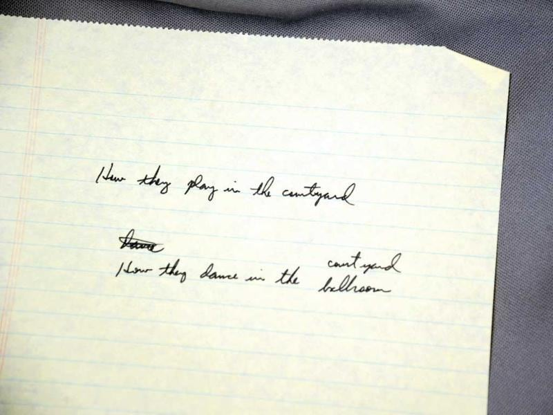Musician Don Henley of the Eagles' handwritten