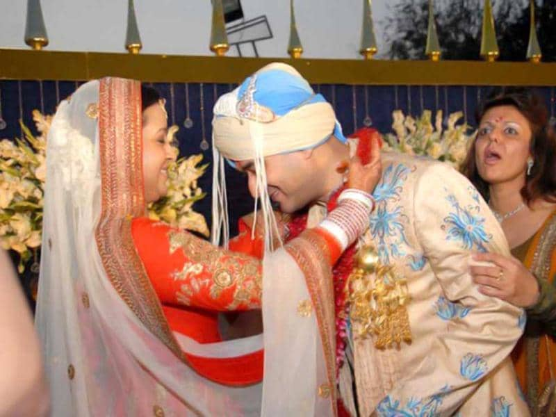 The wedding took place at a farmhouse in Vasant Kunj.