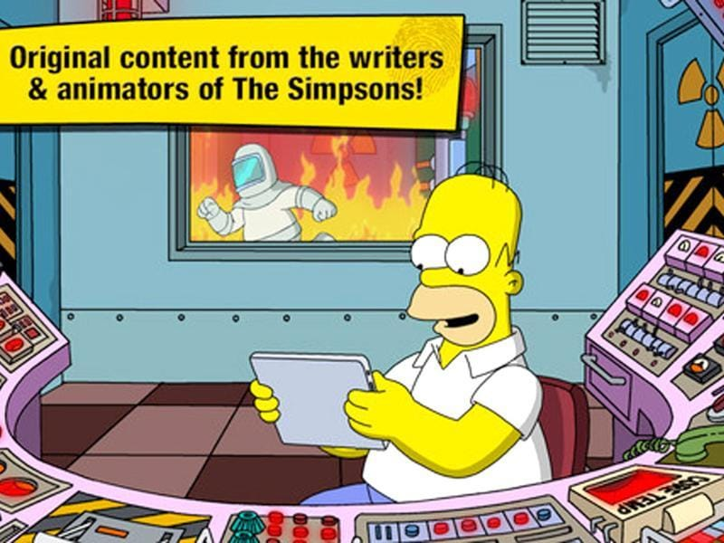 This application is themed around the popular long-running cartoon 'The Simpsons.' Tthis app challenges players to rebuild Homer's home town of Springfield. Photo: AFP