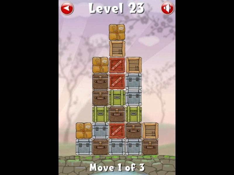 Move the Box is a puzzle game which challenges players to move a series of different colored boxes in order to create rows or columns of matching colors. Photo: AFP