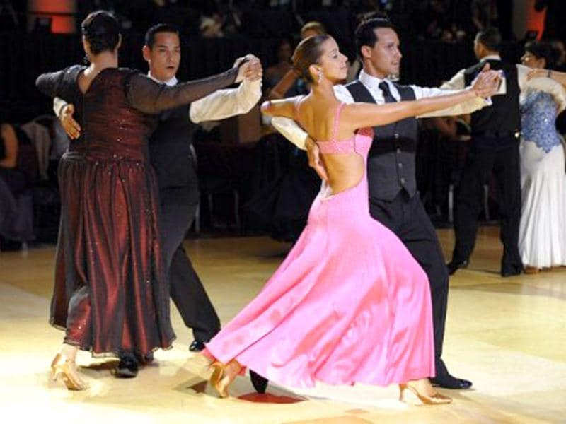 Ballroom dance students and teachers from over 200 countries gather for a week long celebration to mark the 100th year of Arthur Murray Ballroom Dance Studios for social and competitive ballroom dancing around the world. AFP/Timothy A Clary