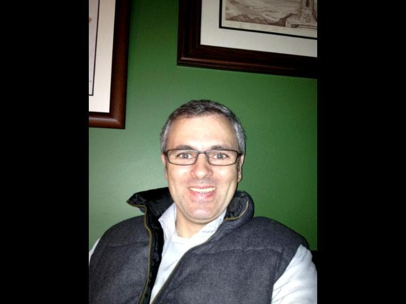 J&K chief minister Omar Abdullah tweeted this picture of his new look with glasses.