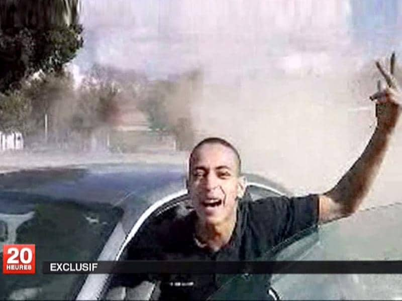 An undated and non-datelined video frame grab broadcast by French national television station France 2 who they claim to show Mohamed Merah, the suspect in the killing of 3 paratroopers, 3 children and a rabbi in recent days in France. Reuters/France 2 Television/Handout