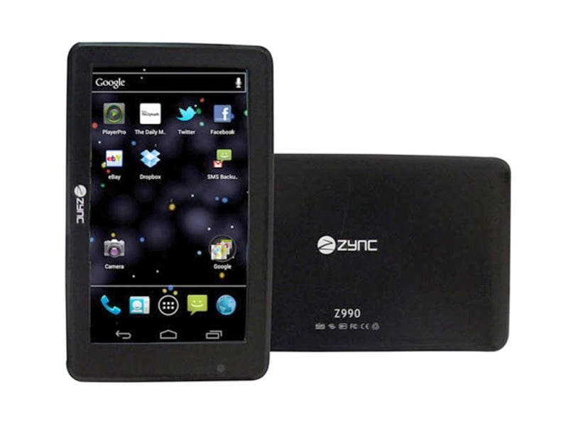 Zync has unveiled Zync Z-990, an Android 4.0 Ice Cream Sandwich based tablet.