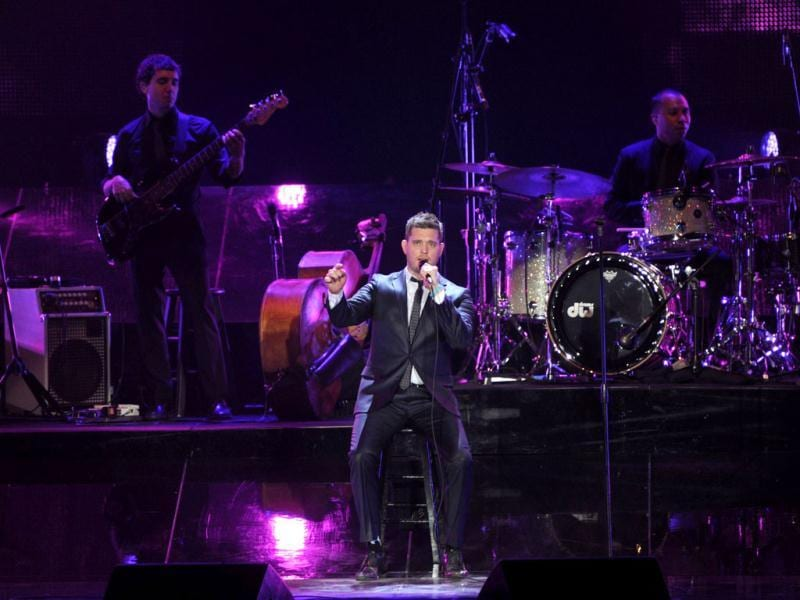 Canadian singer Michael Buble performs during the