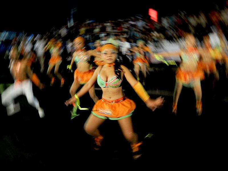 Nicaraguan dancers take part in the Joy for Life carnival in Managua. AFP Photo/Elmer Martinez