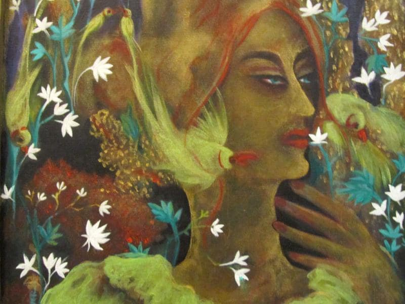 Manju's work also speaks about women power.
