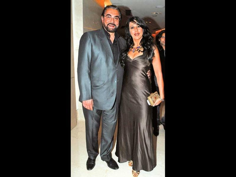 Father-daughter duo Kabir and Pooja Bedi. (HT Photo)