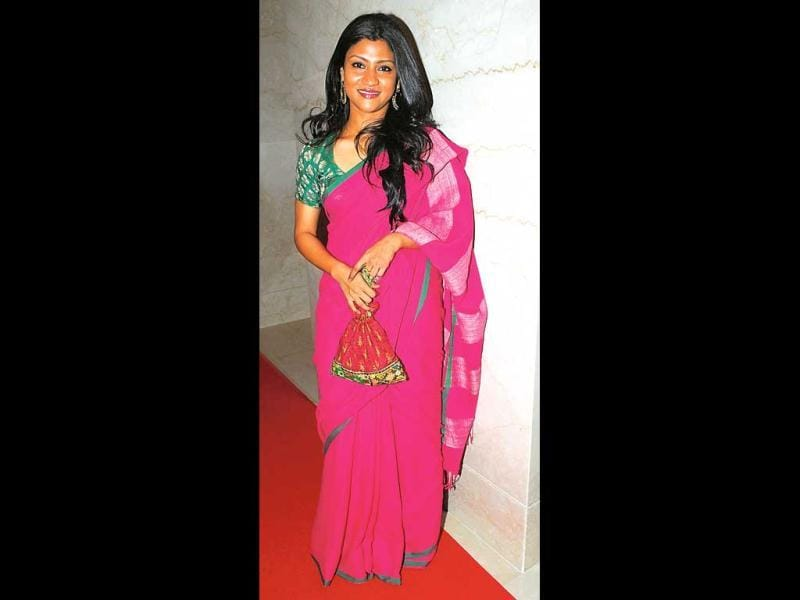 Konkona Sen Sharma, too, was present at the event. (HT Photo)