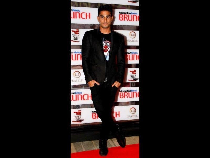 Prateik Babbar in a 'Joker' tee. (HT Photo)
