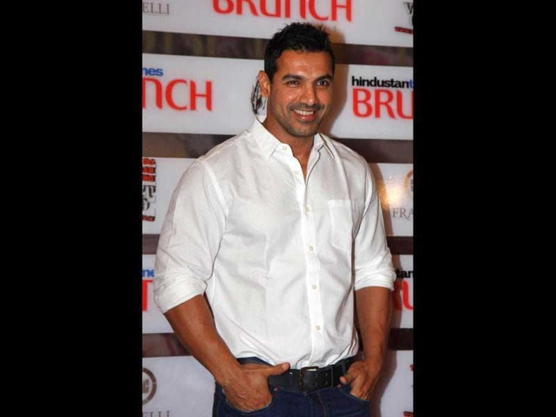 John Abraham at the event. (HT Photo)