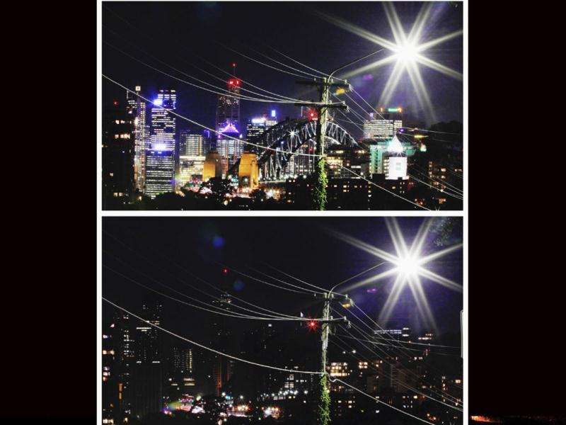 A combination picture shows power lines crossing in front of the Sydney Harbour Bridge and city skyline (top) before Earth Hour, and during Earth Hour. Earth Hour, when everyone around the world is asked to turn off lights for an hour from 8.30 pm local time, is meant as a show of support for tougher action to confront climate change. Reuters/Tim Wimborne