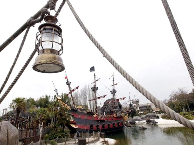 View of the Pirates Bay at the Disneyland park in Chessy, near Marne-la-Vallee, outside Paris. Disneyland Paris is celebrating its 20 years. AFP/ Thomas Samson