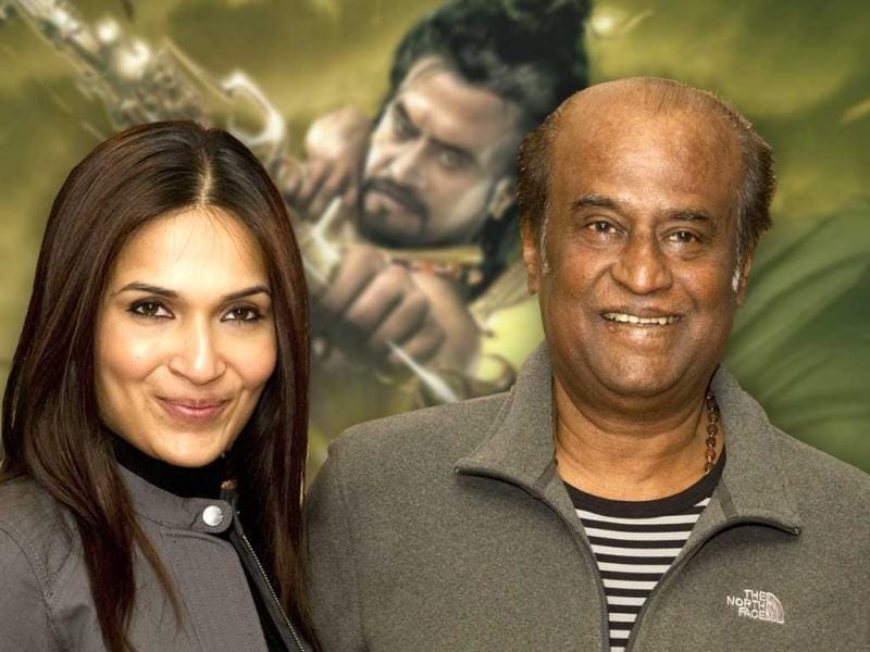Rajinikanth and his daughter Soundarya were seen promoting their film Kochadaiyaan: The Legend in London. Take a look at the stars.
