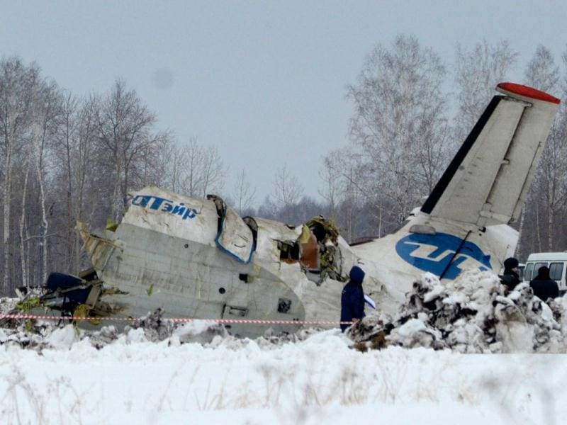 Rescue workers search the site of the ATR-72 plane crash outside Tyumen, a major regional center in Siberia, Russia. AP/Marat Gubaydullin