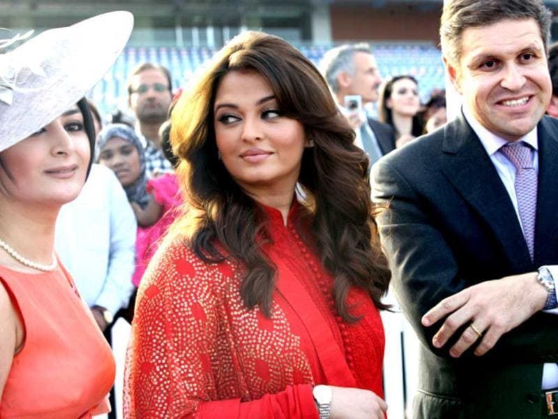 Aishwarya Rai Bachchan at the Dubai World Cup 2012.