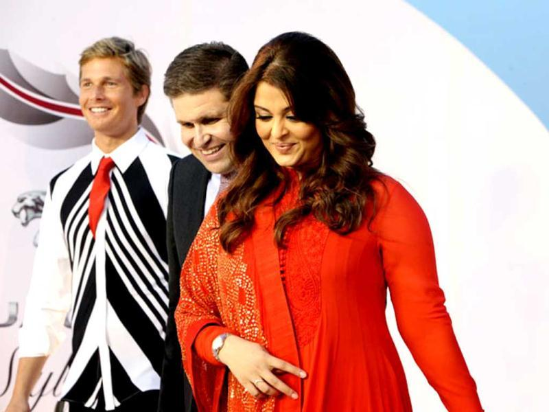 Aishwarya Rai Bachchan's four-month-old daughter is also travelling with her.