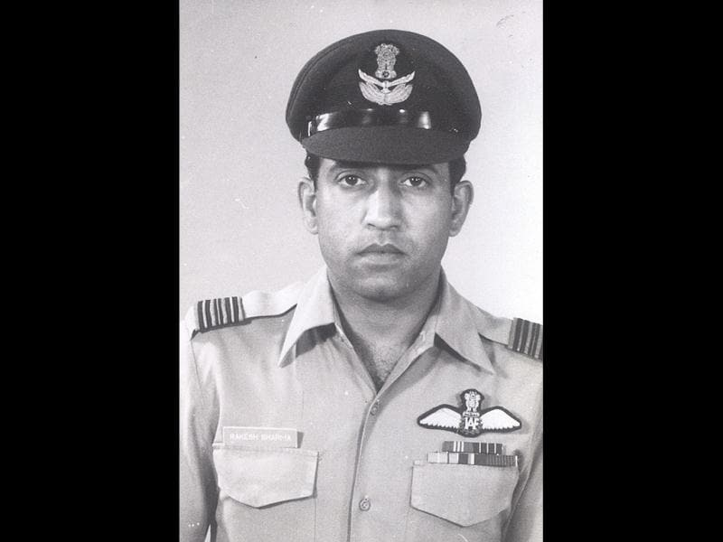 Squadron leader Rakesh Sharma, the first Indian in space, is seen in uniform in this file photo.