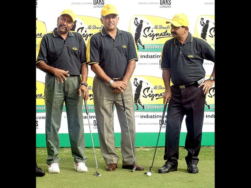 Squadron Leader Sharma conducted multi-spectral photography of north India in anticipation of the construction of hydroelectric power stations in the Himalayas. In this file photo, Sharma is seen alongwith former cricketers SMH Kirmani and GR Vishwanath at a promotional event. (PTI Photo)