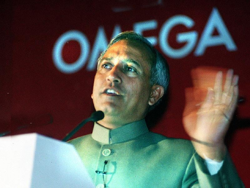 In this file photo, Sharma is seen at a Omega press conference at the Taj Palace. HT Photo/Raj K Raj