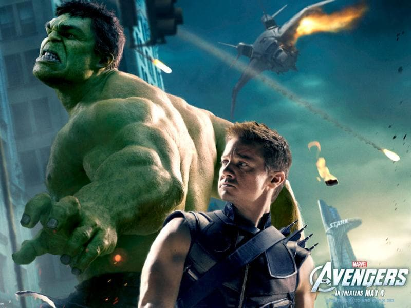 Jeremy Renner as Clint Barton/Hawkeye, Mark Ruffalo as Bruce Banner/The Hulk