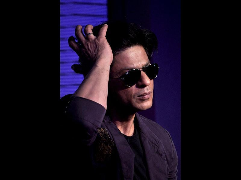 Shah Rukh onstage during the launch. (AFP Photo)