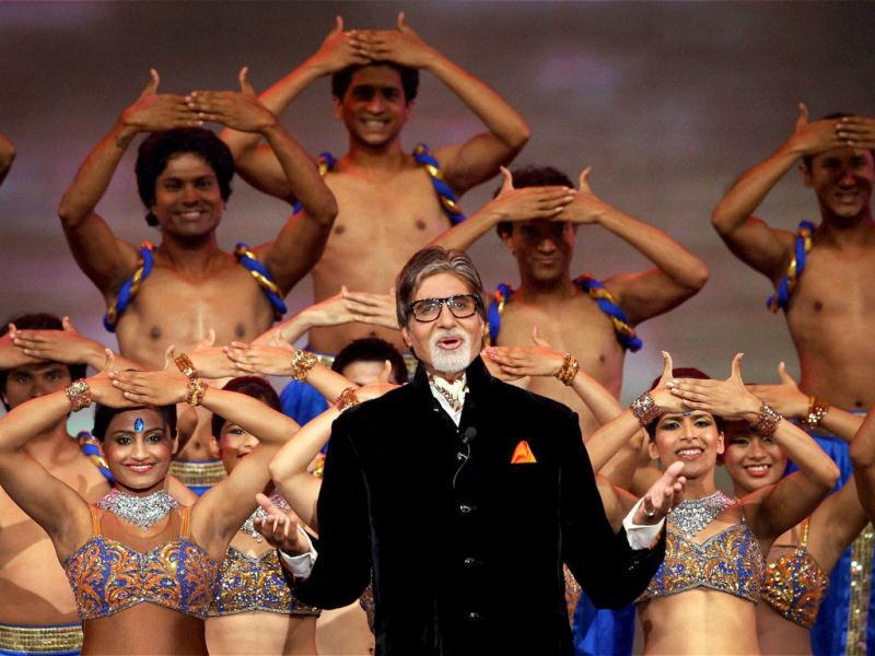 Amitabh Bachchan recites a poem on cricket during the opening ceremony of the 5th edition of Indian Premier League in Chennai. PTI photo
