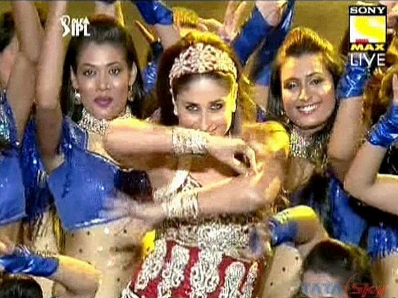 Actress Kareena Kapoor performs during the opening ceremony of the 5th edition of Indian Premier League in Chennai. PTI Photo/TV grab (Courtesy SONY MAX)
