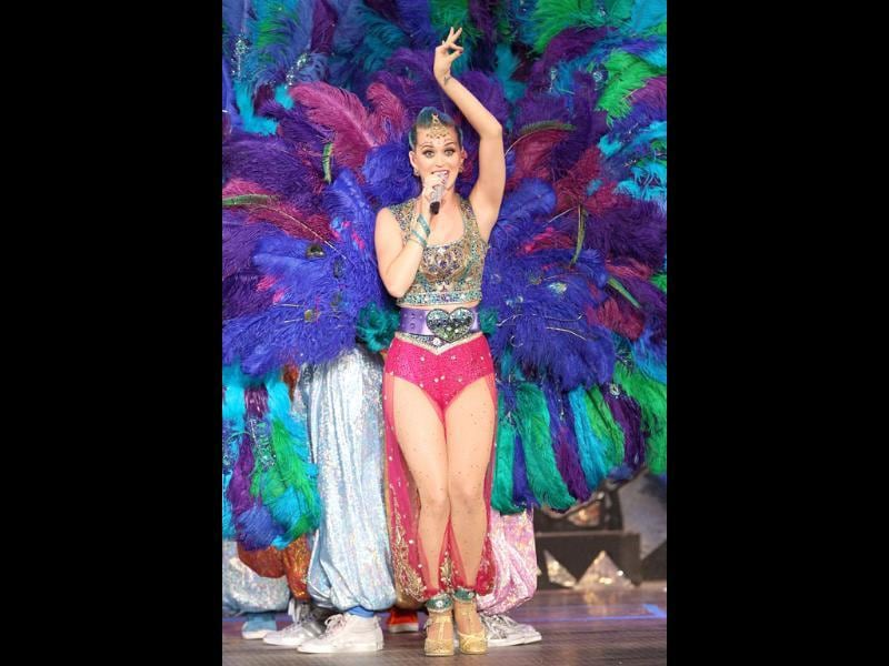 US singer Katy Perry performs during the opening ceremony of the 5th edition of Indian Premier League in Chennai. PTI Photo/IPL/SPORTZPICS