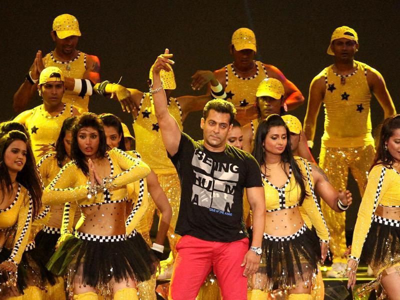 Bollywood actor Salman Khan performs during the opening ceremony of the 5th edition of Indian Premier League in Chennai. PTI Photo/IPL/SPORTZPICS