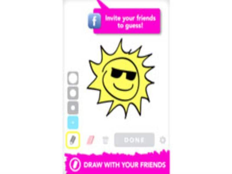 Draw Something Free: This app is the free version of the popular Draw Something, which combines art and social networking by allowing users to draw images of their choice and then challenge friends on Draw Something to guess what the object is.