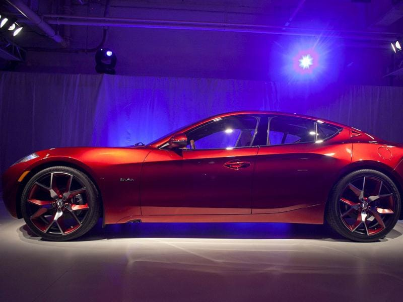 The Fisker automotive electric Atlantic sedan is seen during its unveiling ahead of the 2012 International Auto Show in New York. Reuters/Allison Joyce