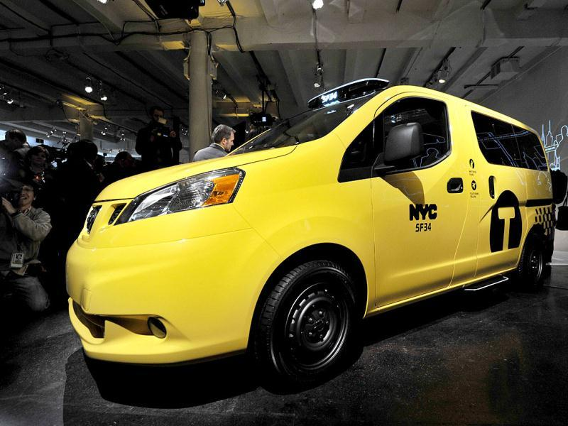 The Nissan NV200, New York's Taxi of Tomorrow was unveiled in New York one day before press previews for the New York International Automobile Show. The NV200 will be the exclusive New York City taxi vehicle starting in 2013. AFP/Stan Honda