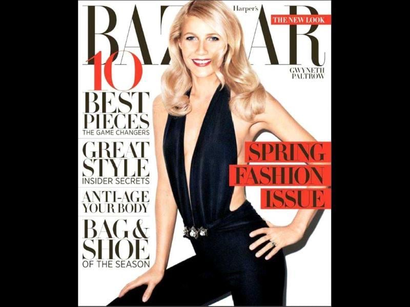 Gwyneth Paltrow goes bold for Harper's Bazaar (March 2012) cover.