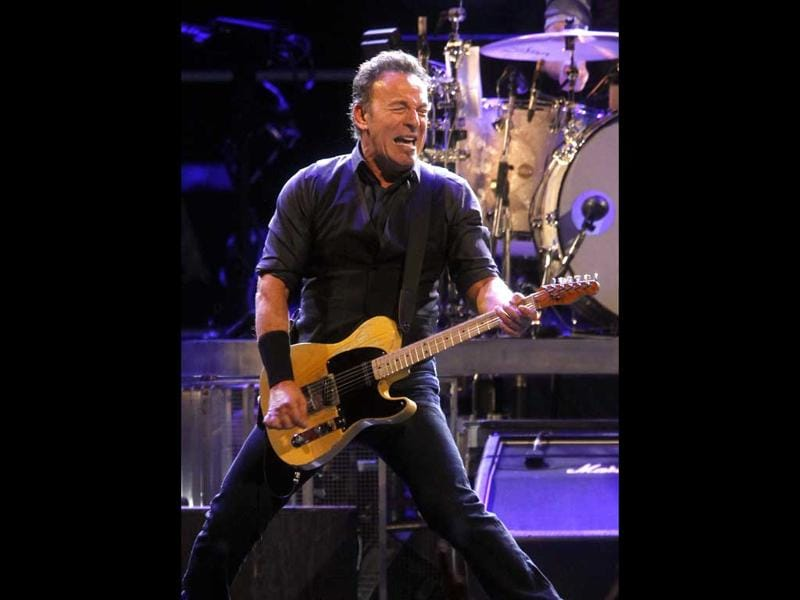 Bruce Springsteen performs with the E Street Band during a concert at Madison Square Garden in New York. AP Photo/Jason DeCrow