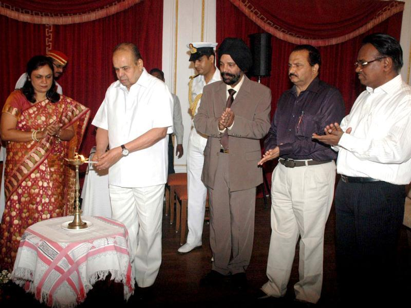 Maharashtra governor K Sankaranarayanan lighting the lamp to inaugurate a Workshop on 'First Aid and Disaster Management' on the occasion of World Health Day at Raj Bhavan, Mumbai. Agencies