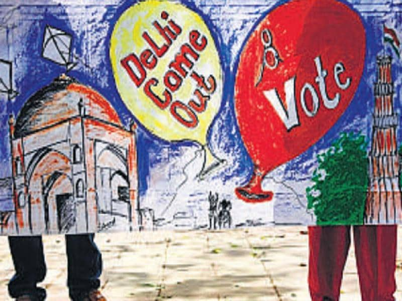 A little ink on your finger does count, Delhiites told