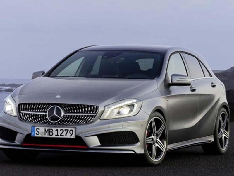 Mercedes will showcase the production version of the CLA compact 4-door coupe.