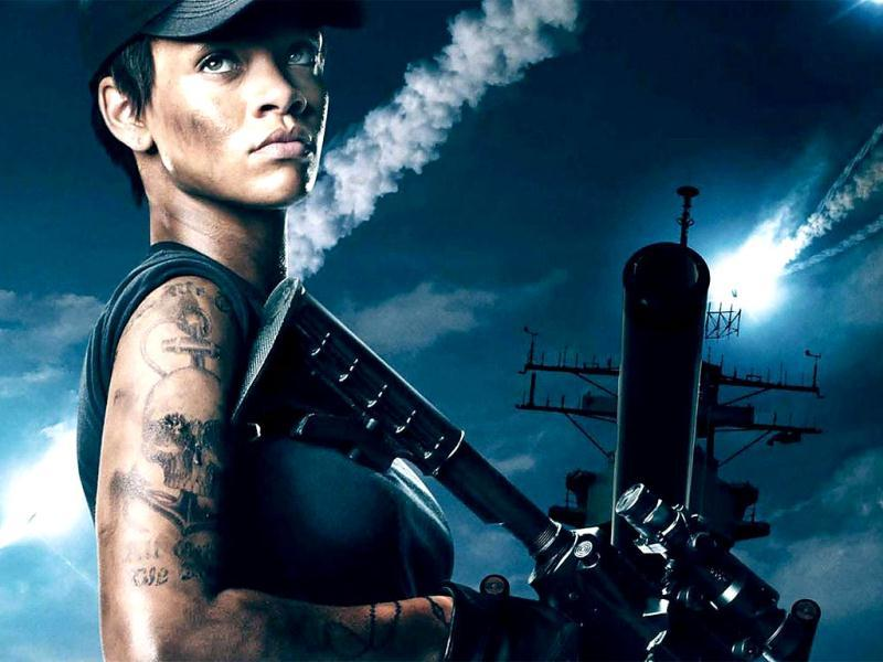 While Battleship has a formidable cast including the likes of Liam Neeson and Taylor Kitsch, it's really pop queen Rihanna's film debut that everyone seems to be looking forward to. As the action flick releases today, take a look at the stills.