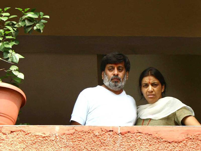 Rajesh Talwar and wife Nupur are accused of murdering their daughter Aarushi. (HT Photo)