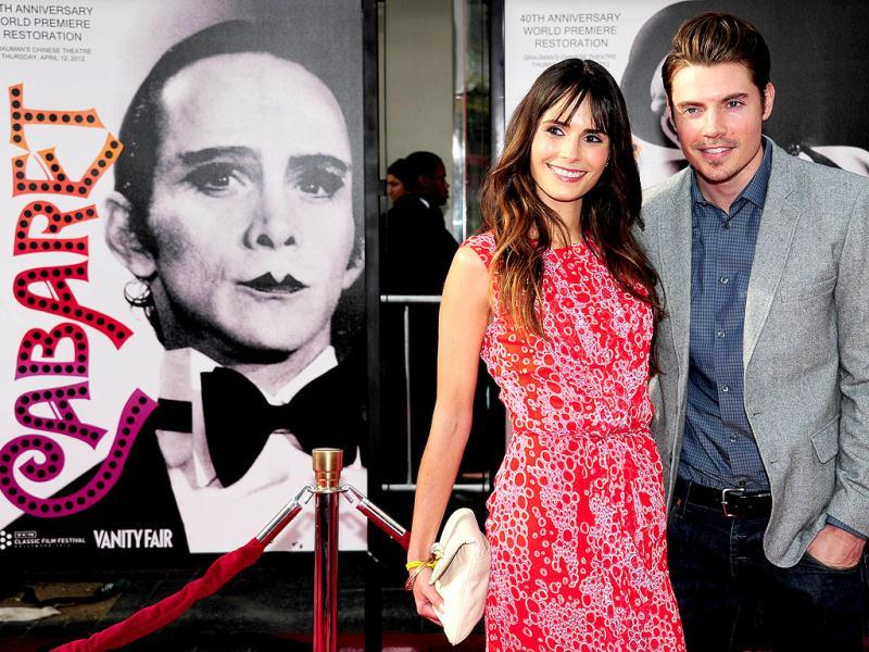 Actor Josh Henderson and actress Jordana Brewster pose on arrival for the World Premiere of the 40th Anniversary Restoration of Cabaret, presented on the opening night of the 2012 TCM Classic Film Festival at Grauman's Chinese Theater in Hollywood in California. AFP Photo/Frederic J. Brown
