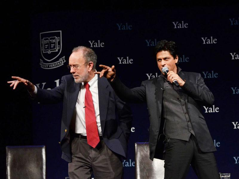 Timothy Dwight College Master Jeffrey Brenzel & SRK. Courtesy: Yale website