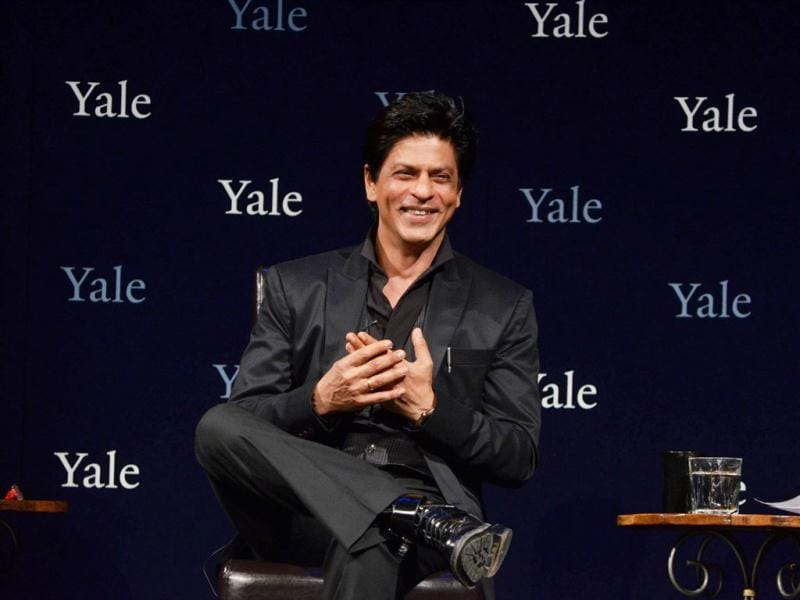 SRK in dialogue with Yale students. Courtesy: Yale website