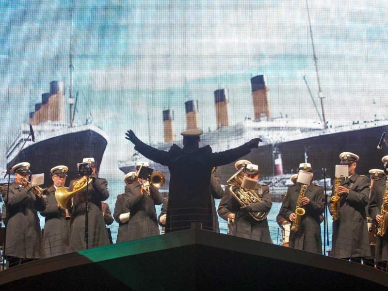 Halifax remembers Titanic sinking with funeral procession, song and performance Night of the Bells event in the Grand Parade square to remember the sinking of the RMS Titanic. AFP/Rogerio Barbosa