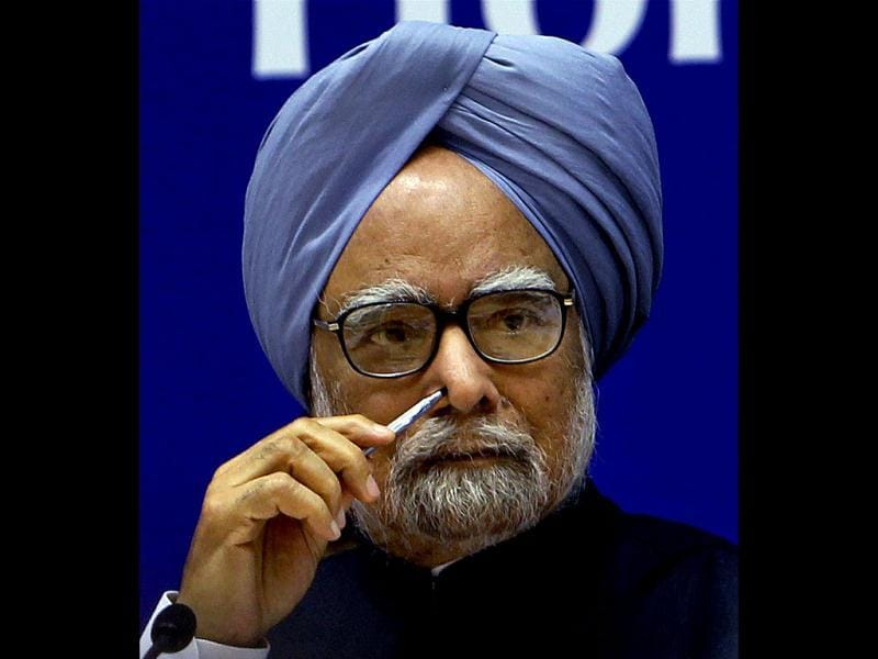 Prime Minister Manmohan Singh during a conference in New Delhi. PTI Photo