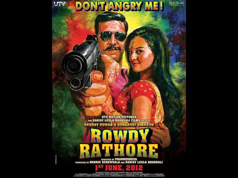 After superhit Wanted, Prabhu Deva is back to direction with Rowdy Rathore, featuring Akshay Kumar and Sonakshi Sinha in the lead.