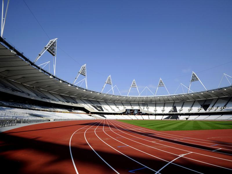 Marks the 100-day countdown to the London Olympics. As London organizers put the finishing touches on the venues and city officials prepare for an invasion of fans, athletes around the world are training for the big moment. (AP Photo/Tom Hevezi, File)