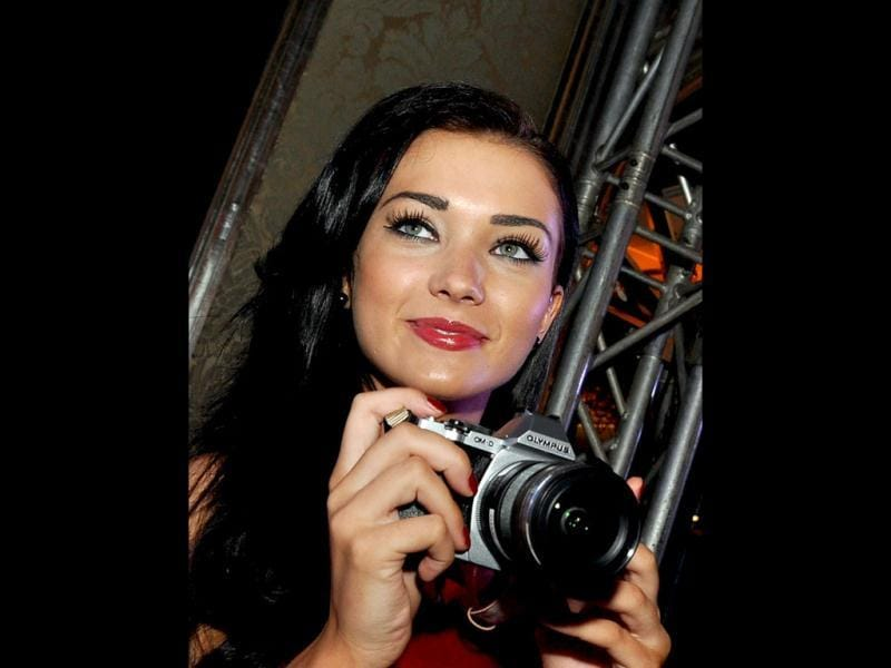 After facing the camera for so long, Amy Jackson goes behind the camera.