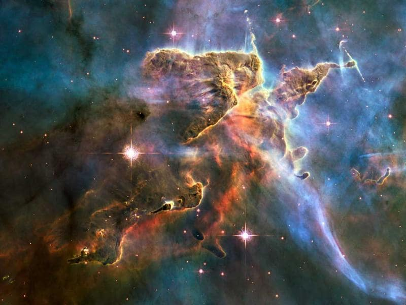 This NASA Hubble space telescope image captures the tempestuous stellar nursery called the Carina Nebula, located 7,500 light-years away from Earth in the southern constellation Carina. Reuters/File